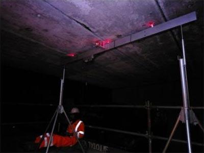 Close-up of crack meter equipment at Gordonton